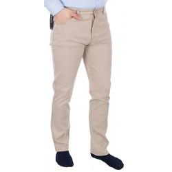 Beżowo-kremowe spodnie Lord R-26 bawełniane 5-pockets roz. 82-114 cm