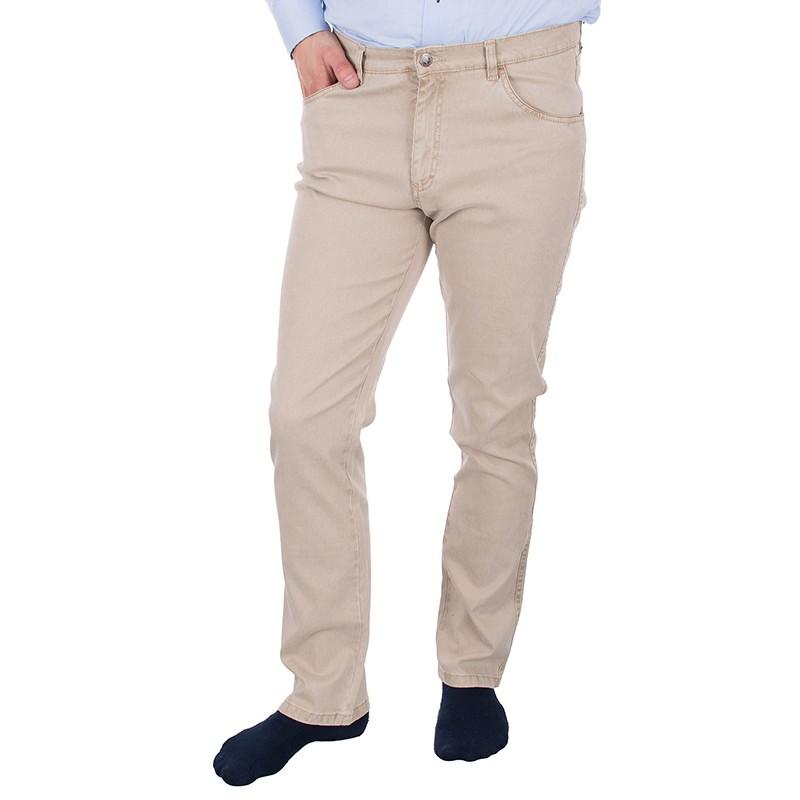 Beżowo-kremowe spodnie Lord R-26 bawełniane