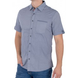 Niebiesko-szara koszula Pako KMKR 2 Bolsa kr. rękaw r. M L XL 2XL 3XL