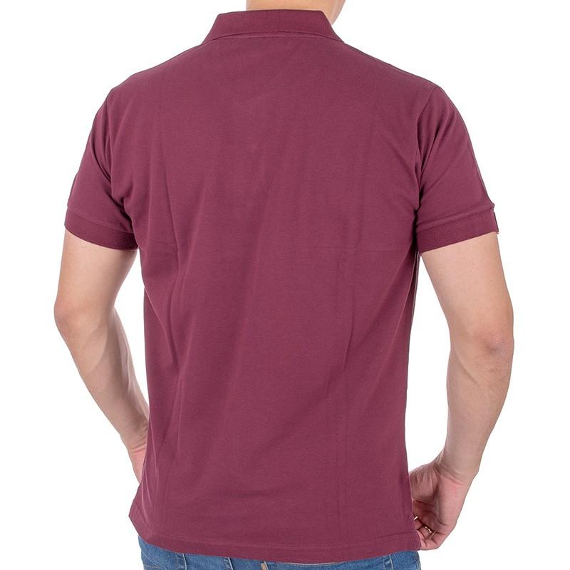 Bordowa koszulka polo Kings 750*00576 z krótkim rękawem