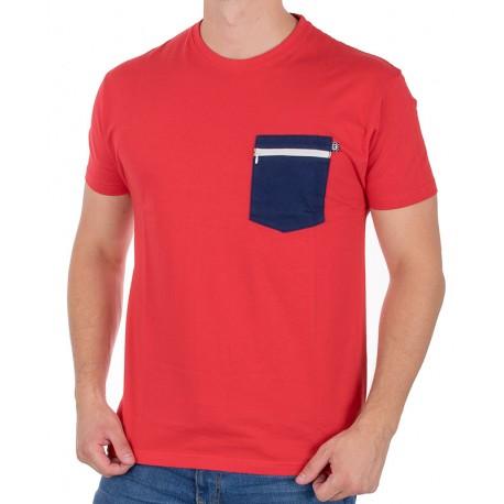 Czerwona koszulka T-shirt Kings 750-101Z z kieszenią