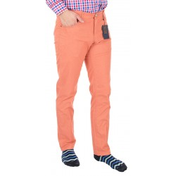 Jasne spodnie bawełniane Lord R-160 koloru ceglanego rozmiar 82 – 112