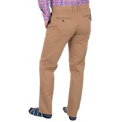 Beżowe spodnie chinos Lord R-91 bawełniane zwężane roz. 82 – 112 cm