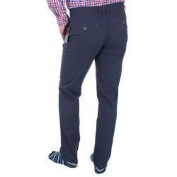 Granatowe spodnie bawełniane Lord R-94 chinos zwężane roz. 82 – 112