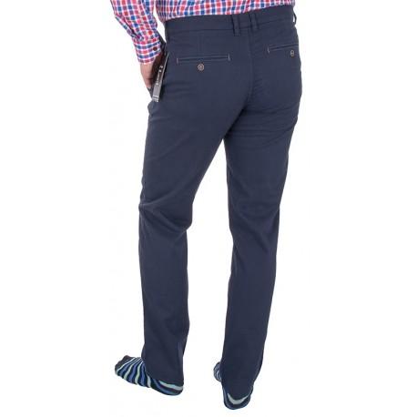 Granatowe spodnie chinos Lord R-94 zwężane