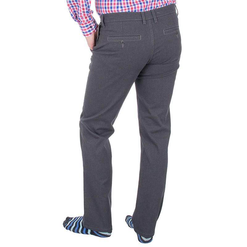 Grafitowe spodnie Lord R-34 niezwężane chinosy
