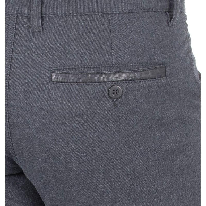 Grafitowe spodnie bawełniane typu chinos Lord R-13 niezwężane