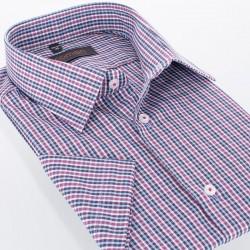 Koszula regular Comen w kratkę z krótkim rękawem 39 40 41 42 43 44 45