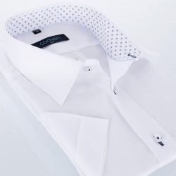 Biała koszula bawełniana Comen krótki rękaw r. 39 40 41 42 43 44 45 46