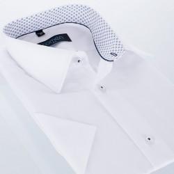 Biała koszula Comen z krótkim rękawem slim r. 39 40 41 42 43 44 45 46