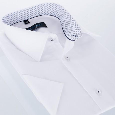 Biała koszula z krótkim rękawem Comen