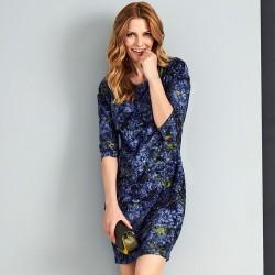 sukienka Sunwear AS208-4-15 w kleksy rozmiar 38 40 42 44 46 48