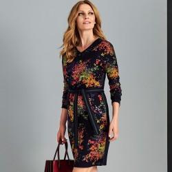 sukienka z paskiem Sunwear AS212-5-30 granatowa rozmiar 40 42 44 46 48