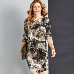 sukienka w kwiaty Sunwear AS213-5-36 gumka w pasie rozmiar 38 46 48