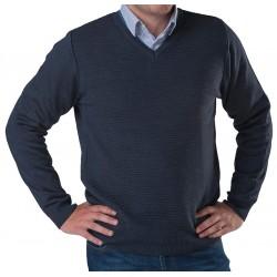 Sweter v-neck Lasota Hermes kolor navy rozmiar M L XL 2XL 3XL