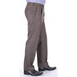 Niezwężane spodnie Lord wełniane w kant oliwkowe roz. 78 -114 cm