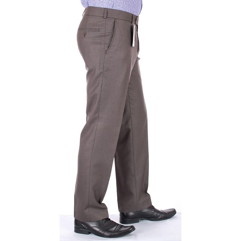 Niezwężane spodnie wełniane Lord w kant oliwkowe