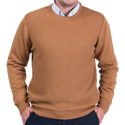 Sweter Lasota Parys pod szyje kolor mokka, camel r. M L XL 2XL 3XL