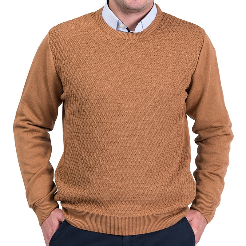Sweter Lasota Parys pod szyje mokka