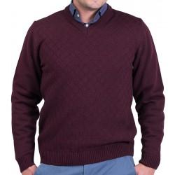 Sweter Lasota Szymon serek, szpic w kolorze śliwkowym M L XL 2XL 3XL
