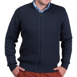 Rozpinany sweter męski Lasota Parys kolor navy roz. M L XL 2XL 3XL 4XL
