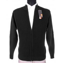 Grafitowy sweter rozpinany Lidos SW97 bawełna roz. M L XL 2XL 3XL