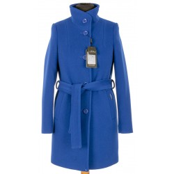 płaszcz damski Dziekański Sonia niebieski rozmiar 36 38 40 42 44 46