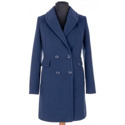 płaszcz zimowy Dziekański Agata granatowy rozmiar 36 38 40 42 44