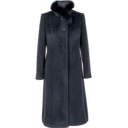 płaszcz ocieplany Dziekański Zyta czarny rozmiar 40 42 44 46 48 50