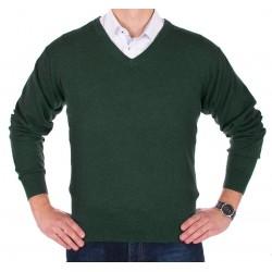 Sweter Lidos 1003 w szpic butelkowa zieleń roz. M L XL 2XL 3XL
