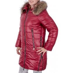 kurtka zimowa Biba Aya bordowa rozmiar 40 42 44 46 48 50