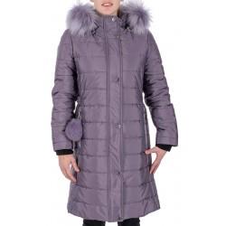 Lawendowy płaszcz damski Dziekański Ramona rozmiar 38 40 42 44 46