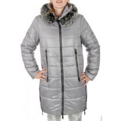 kurtka zimowa Biba Styl Kesia popielata rozmiar 40 42 44 46 48