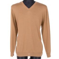 Wełniany sweter Massimo w szpic mokka, camel roz. S M L XL 2XL 3XL 4XL
