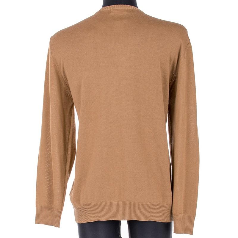 Wełniany sweter Massimo w szpic mokka camel