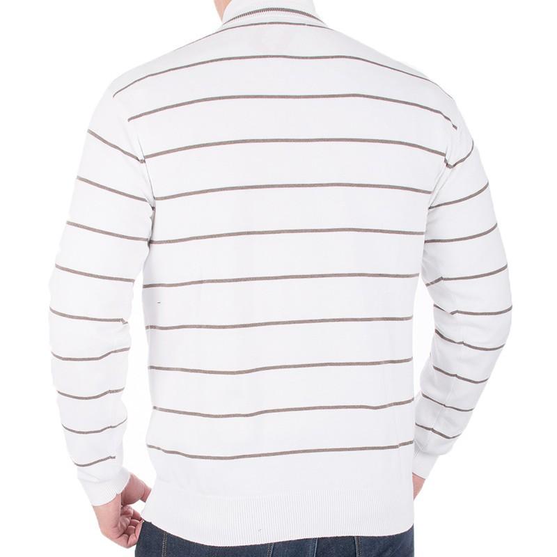 Biały sweter w szpic Kings 139*5521 w paski