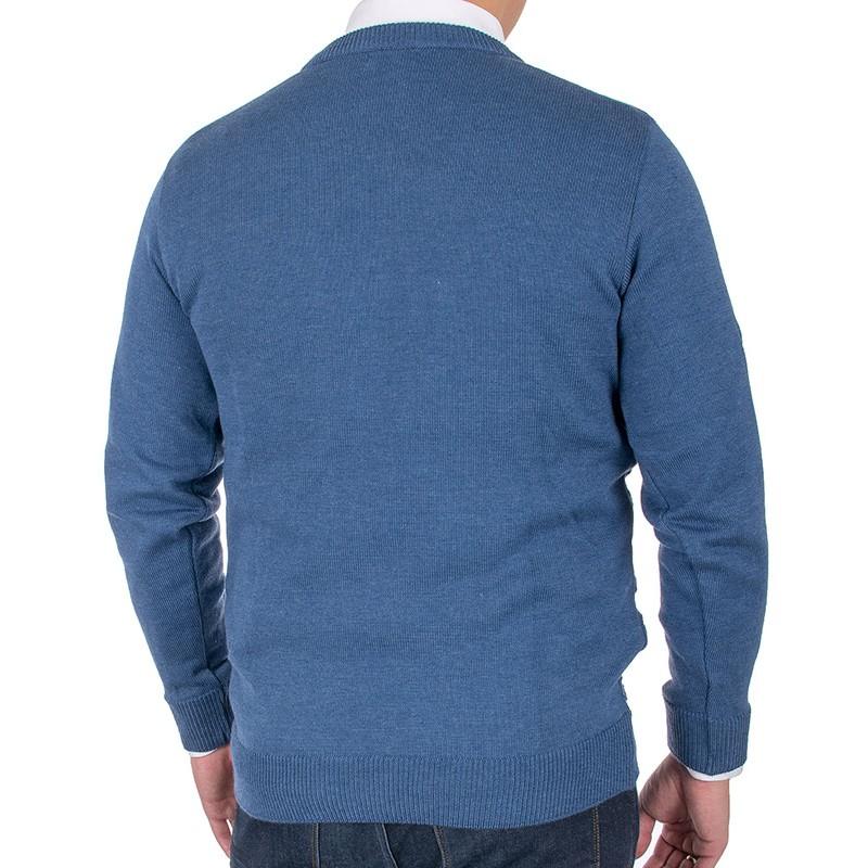 Sweter u-neck Lidos 4534 indygo jeansowy