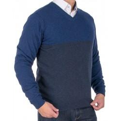 Sweter v-neck Tris Line 1910V granatowo-grafitowy roz. M L XL 2XL 3XL