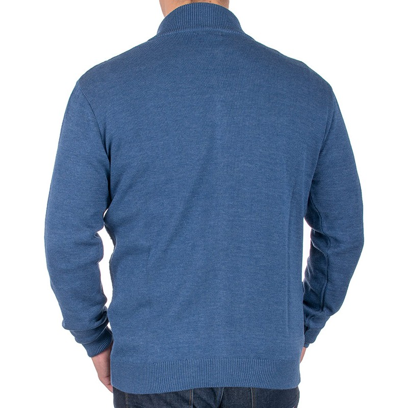Sweter rozpinany Lidos 4529 indygo jeansowy