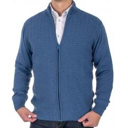 Sweter rozpinany Lidos 4529 indygo jeansowy rozmiar M L XL 2XL 3XL