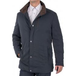 Granatowa kurtka zimowa Tris Line K20-2