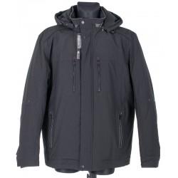 Czarna zimowa kurtka ISSHO M1796 kol. 1 r. 48 50 52 54 56 58 60