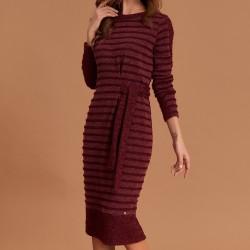 sukienka Feria FE216-5-06 pasy bordo rozmiar 40 42 44 46 48