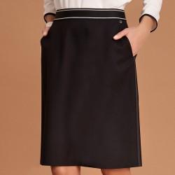 spódnica 55-60cm Feria FE404-3-02 czarna rozmiar 36 38 40 42 44 46