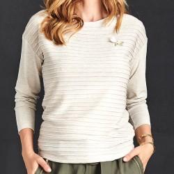 bluzka w paski Sunwear A06-5-23 jasny beż rozmiar 38 40 42 44 46 48