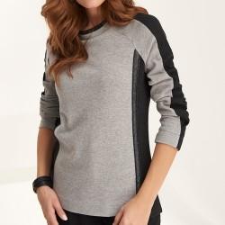 sweter Feria FE11-5-10 czarno popielaty rozmiar 38 40