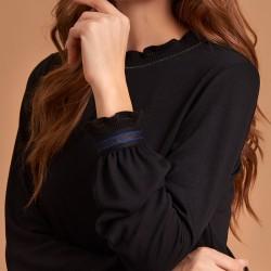bluzka długi rękaw Feria FE50-5-02 czarna rozmiar 38 40 42 44 46