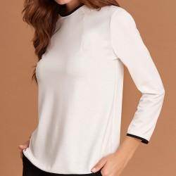 bluzka z długim rękawem Feria FE31-4-08 ekrii rozmiar 38 40 42 48