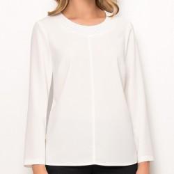 bluzka z długim rękawem Sunwear Z61-5-08 ekri rozmiar 40