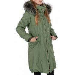 płaszcz damski Dziekański Roksana zielony rozmiar 38 40 42 44 46